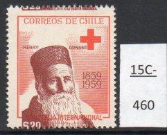 Chile  1959 Red Cross Henri Dunant 20p : Major Colour Shift. MNH. - Chile