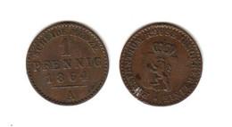 REUSS  Principauté  1 Pfennig 1864 A  Allemagne Germany - Other