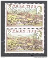 Timbre Oblitéré - Mauritius / Ile Maurice -  Bloc De 2 Timbres Champ De Mars / Race Course - Maurice (1968-...)