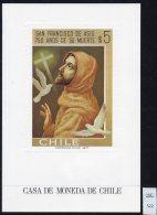 Chile Casa De Moneda Christmas Navidad 1977 M/s Christ Religion Birds Doves - Chile