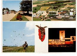 Saint Sulpice (Tarn) 9e Régiment De Chasseurs Parachutistes -  Multivues - écusson Du 9e (CP Dim 12,5x17,5 Cm) - Kasernen