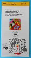 50th ANNIV. OF THE PROF. BALTHAZAR ANIMATED SERIES Croatian Post Official Postage Stamp Prospectus Cartone Animato Film - Cinema