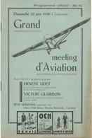 Aviation - Grand Meeting D'aviation à Lausanne - 1930 - Aviation Commerciale