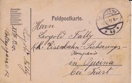 Feldpostkarte - Wien Nach Opcina K.k. Eisenbahnsicherungs-Kompanie - 1917 (35515) - 1850-1918 Imperium