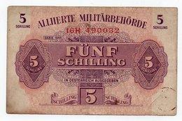 AUSTRIA-5 Schilling 1944- P-105 MILITARY AUTHORITY. - Austria