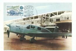 AVIATION - Carte Postale Philathélique - Europa 1979 - Histoire De La Poste - Avion Caudron-Simoun - Airplanes