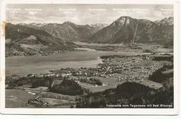 X3128 Panorama Vom Tegernsee Mit Bad Wiesse / Viaggiata 1953 - Bad Wiessee