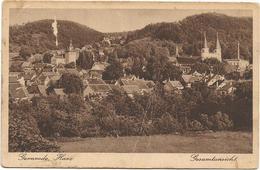 X3129 Quedlinburg - Gernrode Harz - Gesamtansicht / Viaggiata 1928 - Quedlinburg