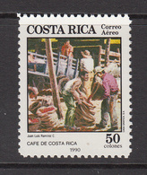 1990 Costa Rica Bagging Coffee Beans Cafe Kafe Complete Set Of 1 MNH - Costa Rica