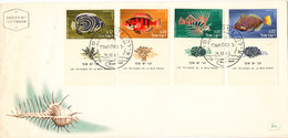 Israel FDC Complete Set FISH With Tabs And Cachet 16-12-1963 - FDC