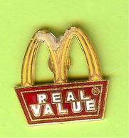 Pin's Mac Do McDonald's Real Value (Recollé) - 6D17 - McDonald's