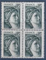 = Sabine De Gandon, Bloc De 4 Oblitéré 0.05 N°1964, - 1977-81 Sabine (Gandon)