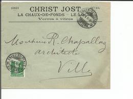 Lettre Suisse, Christ Jost La Chaux De Fonds -  Le Locle, Verres à Vitres (13.5.11) - Lettres & Documents