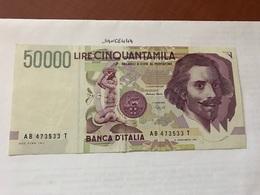 Italy Bernini Uncirculated Banknote 50000 Lira 1992 - 10000 Lire