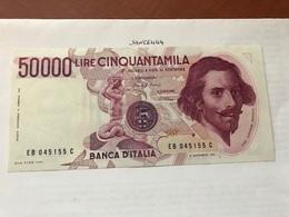 Italy Bernini Uncirculated Banknote 50000 Lira 1994 - 10000 Lire