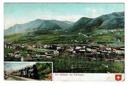 Un Saluto Da Chiasso - Eisenbahn Chemin De Fer - 1908 - Edit. Carl Künzli 1328 - 2 Scans - TI Ticino