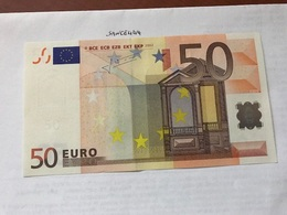 Italy Uncirculated Banknote 50 Euro 2002  #1 - Unclassified