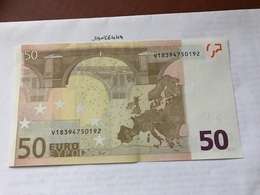 Italy Uncirculated Banknote 50 Euro 2002  #2 - 50 Euro