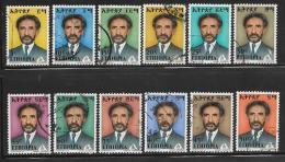 Ethiopia, Scott # 672-83 Used Selassie, 1973 - Ethiopie