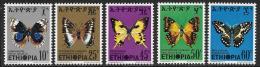 Ethiopia, Scott # 720-4 Mint Hinged Butterflies, 1975 - Ethiopia