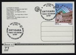 "2016 ITALIA ""CENTENARIO GRANDE GUERRA / ORTIGARA"" CARTOLINA ANNULLO 10.07.2016 (ASIAGO) - Italia"