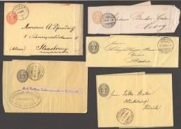1873-1907 13 Bandes à Journaux Streifbänder - Stamped Stationery
