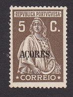 Azores, Scott #308, Mint No Gum, Ceres Overprinted, Issued 1930 - Azores