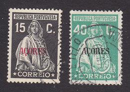 Azores, Scott #310-311, Used, Ceres Overprinted, Issued 1930 - Azoren