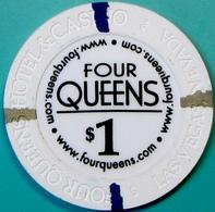 $1 Casino Chip. Four Queens, Las Vegas, NV. New. E46. - Casino