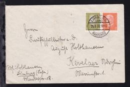 Zusammendruck Reichspräsidenten 6 Und 12 Pfg. Auf Brief Ab Limburg Bahnhof - Se-Tenant
