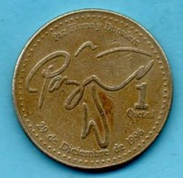 (r65)  GUATEMALA  1 Quetzal 2000 - Guatemala