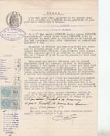 PAIRE TIMBRE COPIES SUR ACTE NOTARIAL CONGE LOCATION GAP 13/6/1914 -                     TDA269A - Fiscaux