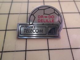 Sp01 Pin's Pins : Rare Et Belle Qualité  FRANCE TELECOM / BALLON DE FOOT DR-DO DE LILLE - France Telecom
