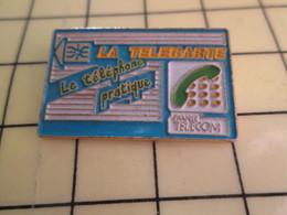 Sp01 Pin's Pins : Rare Et Belle Qualité  FRANCE TELECOM / LA TELECARTE LE TELEPHONE PRATIQUE - France Telecom