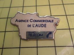 Sp01 Pin's Pins : Rare Et Belle Qualité  FRANCE TELECOM / AGENCE COMMERCIALE DE L'AUBE - France Telecom