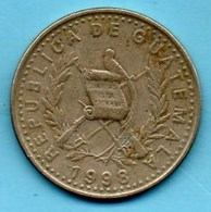 (r65)  GUATEMALA  25 Centavos 1998 Km#278;6 - Guatemala