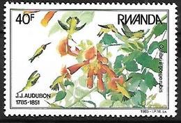 Rwanda 1985 - MNH - Ruby-throated Hummingbird (Archilochus Colubris) - Hummingbirds