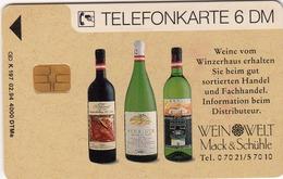 GERMANY - Weinwelt Mack & Schühle 1 (Weinflaschen / Flagge) , K 0197-02/94 , 4000 Tirage ,used - Duitsland