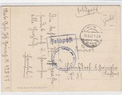 Feldpost Vom U-Boot 670 19.6.43 (Stempel Vom 1.WK?) Das Boot Wurde Am 20.8.43 In Der Danziger Bucht Versenkt - Briefe U. Dokumente