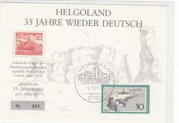 Helgoland 35 Jahre Wieder Deutsch - Nr. 868 - Faksimile-Druck - [7] Federal Republic