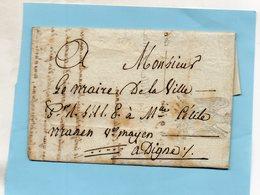 """En-tête """"Ville D'ARLES"""",L.A.C. Du 9/6/1806-signature De Maire. - 1801-1848: Vorläufer XIX"""