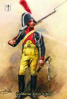 Carte Postale, Militaria, Napoleon, Uniformes De La Grande Armée, Gendarme D'elite à Pied - Uniformen