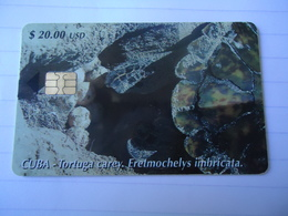 CUBA USED CARDS ANIMALS TURTLES TORTUGA - Cuba