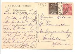 Expo Colonial Fachi Yv 271+272. CPE Dijon>Pays Bas - 1921-1960: Moderne