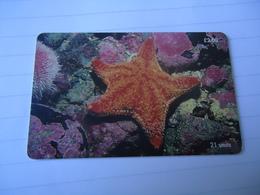 ISLE OF MAN USED CARDS MARINE LIFE - Isle Of Man