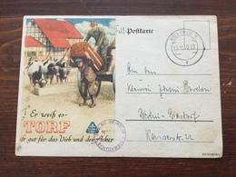 K5 Deutsches Reich 1940 Feldpostkarte Von Küstrin Nach Berlin-Biesdorf - Allemagne