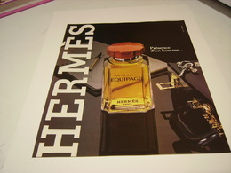 ANCIENNE AFFICHE  PUBLICITE PARFUM EQUIPAGE  DE HERMES 1981 - Perfume & Beauty