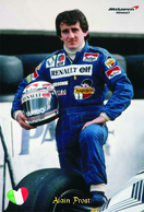 Carte Postale, Sport, Automobilisme, F1 Drivers All Time, Alain Prost (France), McLaren Renault Team - Grand Prix / F1
