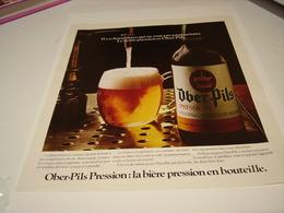 ANCIENNE PUBLICITE OBER PILS PRESSION 1972 - Alcohols