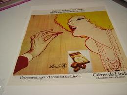 ANCIENNE PUBLICITE CHOCOLAT CREME DE LINDT  1972 - Posters